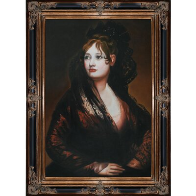 Portrait of Dona Isabel De Porcel by Francisco Goya Framed Hand Painted Oil on Canvas ...
