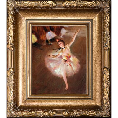 Star Dancer (On Stage) by Edgar Degas Framed Painting by Tori Home
