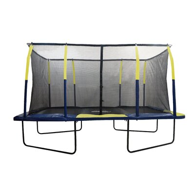 Spacious 15' Rectangular Trampoline with Fiber Flex Enclosure Product Photo
