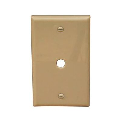 "Morris Products 1 Gang 0.41"" Hole Lexan Cable Wall Plates in Ivory"
