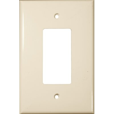 Morris Products 1 Gang Oversize Decorative / GFCI Lexan Wall Plates in Almond