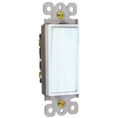 Morris Products 15A-120/277V Single Pole Decorator Switches in White