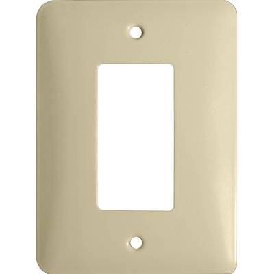 Morris Products Midsize 1 Gang Decorator/GFCI Stainless Steel Metal Wall Plates in Ivory