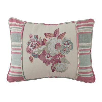 Spring Bling Embroidered Cotton Lumbar Pillow by Waverly