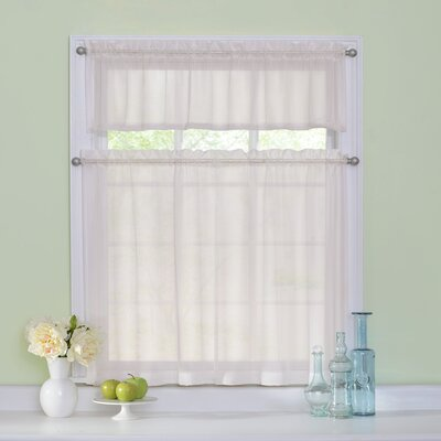 "Arm and Hammer Curtain Fresh Odor-Neutralizing 56"" Valance and Tier Set Product Photo"
