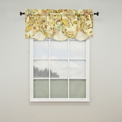 "Graceful Garden Scalloped 60"" Curtain Valance Product Photo"