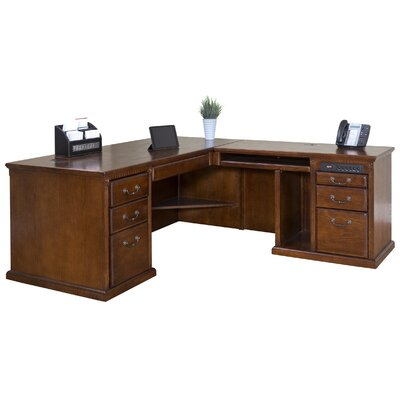 Huntington Oxford Right L-Shaped Executive Desk by Martin Home Furnishings
