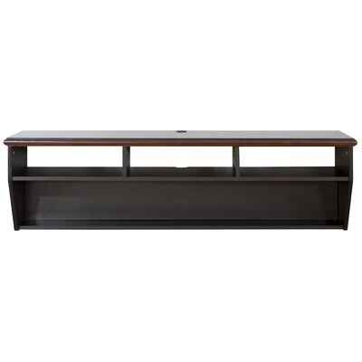 "60"" Hardwood Veneer Top Wall Mounted TV Component Shelf Product Photo"