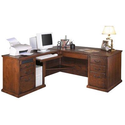 Huntington Oxford Left L-Shaped Executive Desk by Martin Home Furnishings