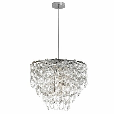 Cristallo 6 Light Crystal Chandelier by Dainolite