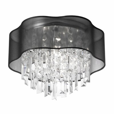 Dainolite 3 Light Crystal Flush Mount