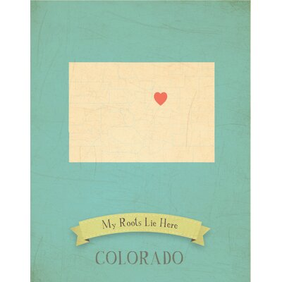 My Roots Colorado Personalized Map Graphic Art on Gallery Wrapped Canvas by Children Inspire ...