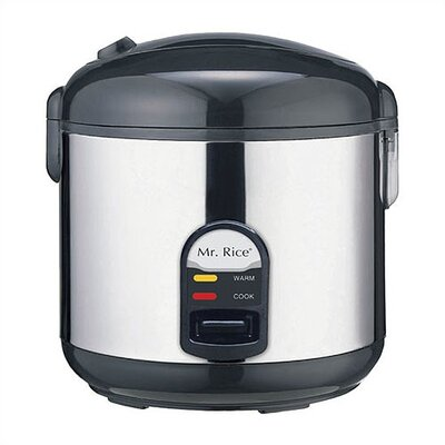 Mr. Rice 10 Cup Rice Cooker in Stainless Steel by Sunpentown