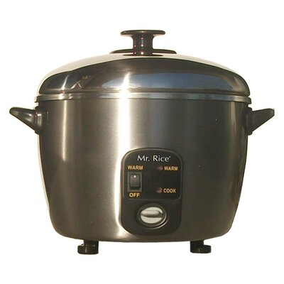 6-Cup Rice Cooker and Steamer by Sunpentown