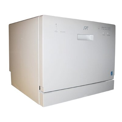 "21.65"" 55 dBA Countertop Dishwasher in White  Energy Star Certified Product Photo"