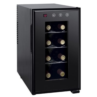 8 Bottle Single Zone Freestanding Wine Refrigerator by Sunpentown