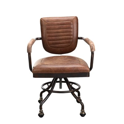 Foster Desk Leather Chair with Arms by Moe's Home Collection