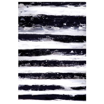 Moe's Home Collection Stripes Horizontal Painting Print on Canvas
