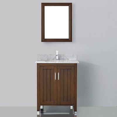 "Bauhaus Bath Jacchi 28"" Single Bathroom Vanity Set with Mirror"