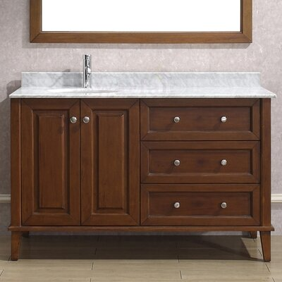 "Milly 55"" Single Bathroom Vanity Set with Mirror Product Photo"