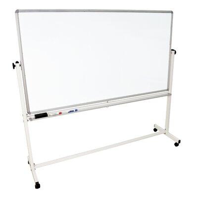 Luxor Mobile Magnetic Reversible Whiteboard, 4' x 6'