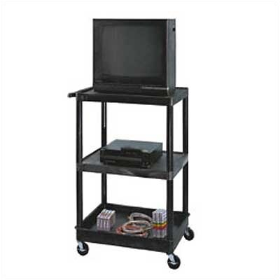 Luxor Open Shelf TV Cart with Lower Tray