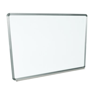Luxor Wall Mounted Magnetic Whiteboard, 3' x 4'
