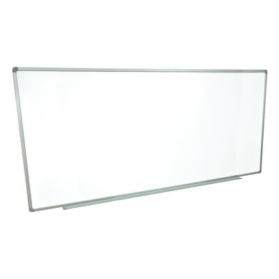 Luxor Wall Mounted Magnetic Whiteboard, 3' x 8'