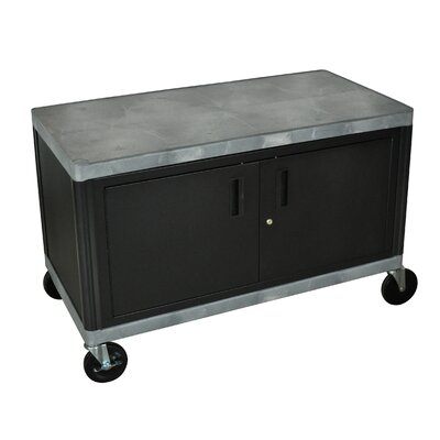 Luxor Industrial Storage Cart with Cabinet