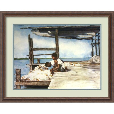 Amanti Art 'Hand Line' by Stephen Scott Young Framed Painting Print