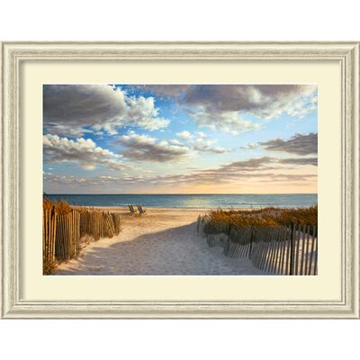 Amanti Art 'Sunset Beach' by Daniel Pollera Framed Painting Print