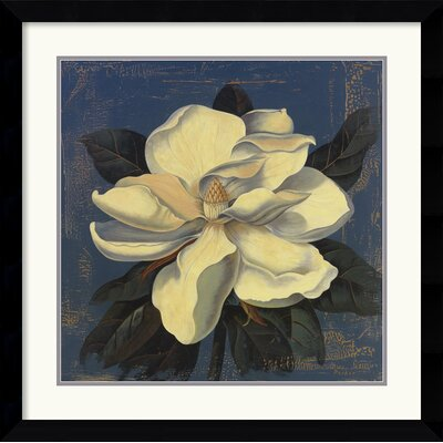 Amanti Art 'Glowing Magnolia' by Curtis Parker Framed Painting Print