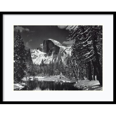 'Half Dome, Winter - Yosemite National Park, 1938' by Ansel Adams Framed Photographic Print by ...