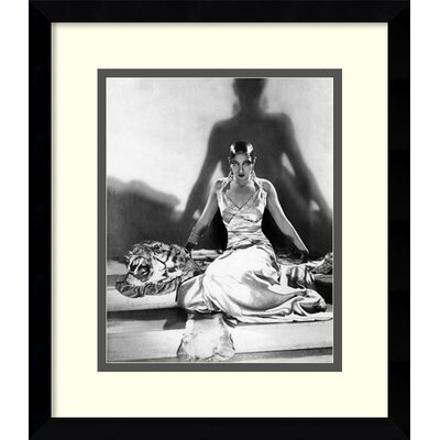 McMahan Photo Archive 'Josephine Baker on Tiger Rug, 1925 Framed Painting Print by Amanti Art ...