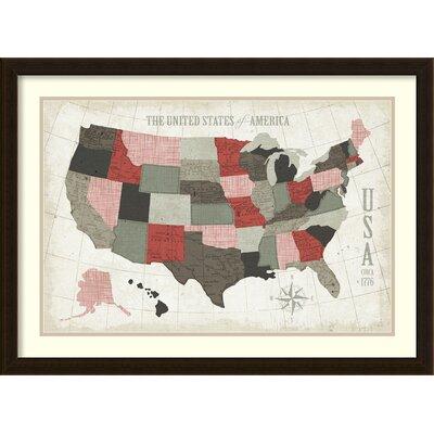 USA Modern Vintage Marsale by Michael Mullan Framed Wall Art by Amanti Art
