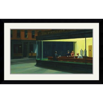 Amanti Art 'Nighthawks, 1942' by Edward Hopper Framed Painting Print
