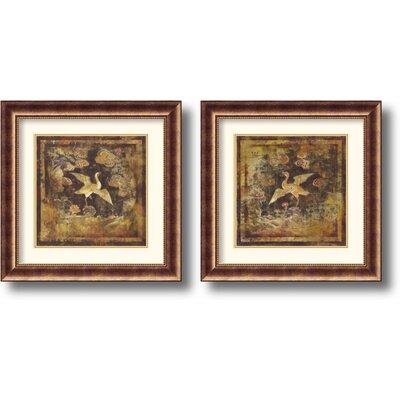 Amanti Art 'Birds of Paradise' by Georgie 2 Piece Framed Painting Print Set