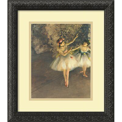 'Two Dancers on Stage' by Edgar Degas Framed Painting Print by Amanti Art