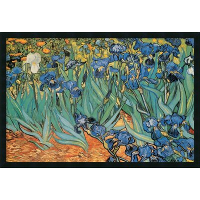 Amanti Art 'Garden Of Irises' by Vincent Van Gogh Framed Painting Prints