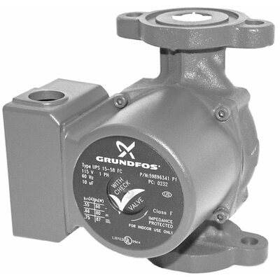 1/6 HP 115V 1-Speed Cast Iron 50 Flange Pump by Grundfos