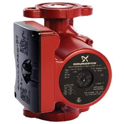 1/6 HP 3-Speed Cast Iron Circulator Pump by Grundfos