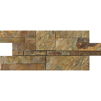 Random Sized Slate Mosaic Tile in Brown Product Photo