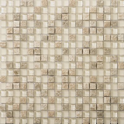Lucente Glass Mosaic Tile in Ivory by Emser Tile