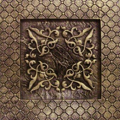 """Emser Tile Camelot 4"""" x 4"""" Igraine Deco in Bronze"""