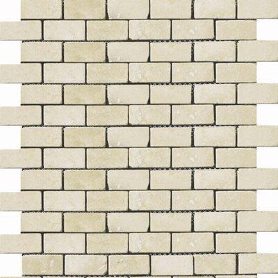 "Emser Tile Natural Stone 1"" x 2"" Travertine Subway Tile in Ancient Beige"