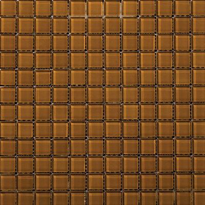 "Emser Tile Lucente 1"" x 1"" Glass Mosaic Tile in Amber"
