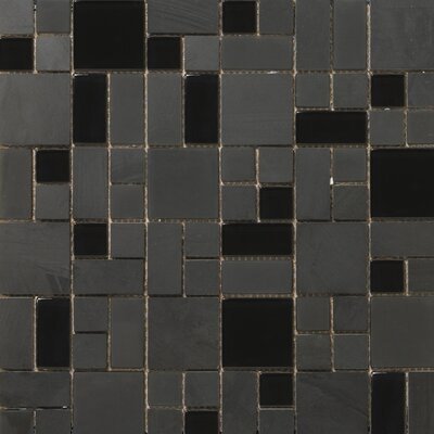 Emser Tile Lucente Random Sized Stone and Glass Mosaic Tile in Zanfirico