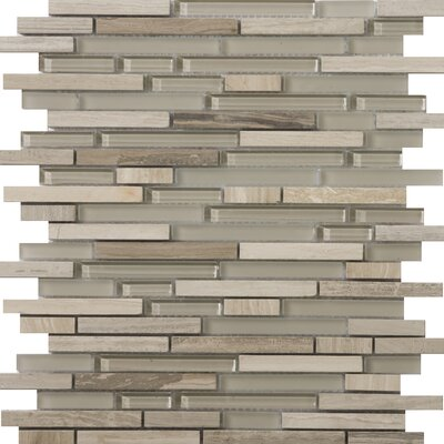 Lucente Random Sized Glass and Stone Mosaic Tile in Certos Linear by Emser Tile