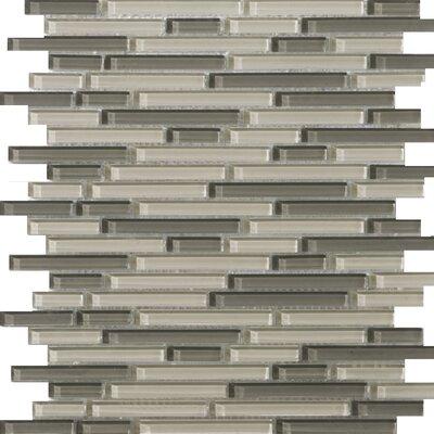 Emser Tile Lucente Random Sized Glass Mosaic Tile in Pellestri Linear