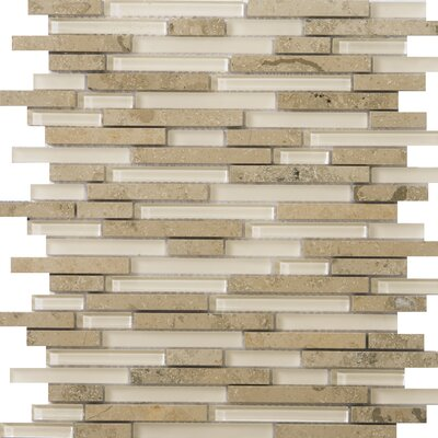 Lucente Random Sized Glass Mosaic Tile in Lido Linear by Emser Tile